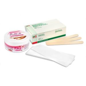 depilačná-sada-cukrová-depilácia-nadirah-špachtle-pásiky-pasta